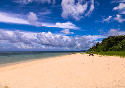 Empty Yonehara beach in summertime, Yaeyama Islands, Ishigaki, Japan