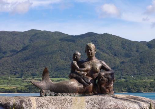 Mermaid statue, Yaeyama Islands, Ishigaki, Japan