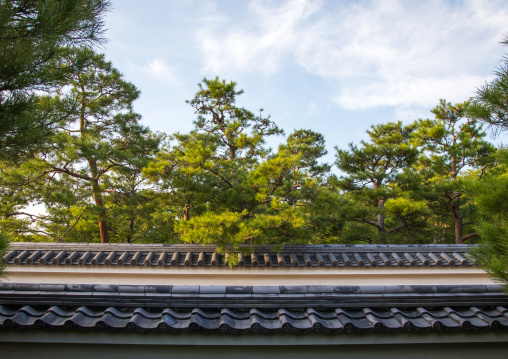 Roof tile in Kokoen garden, Hypgo Prefecture, Himeji, Japan