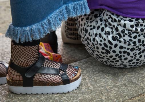 Shoes of cosplay girls, Kansai region, Osaka, Japan