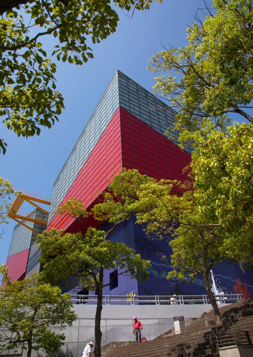 Kaiyukan aquarium red building, Kansai region, Osaka, Japan