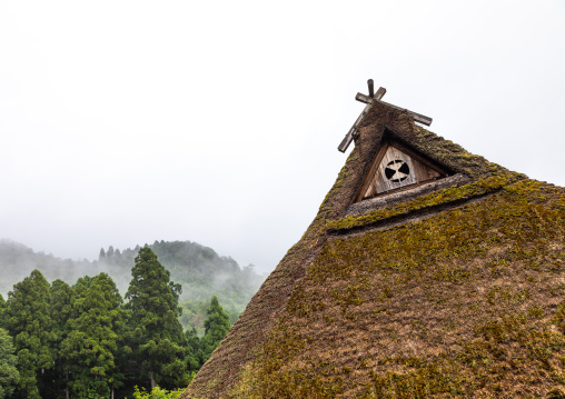 Thatched roofed house in a traditional village, Kyoto Prefecture, Miyama, Japan