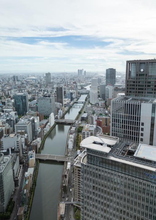 Cityscape, Kansai region, Osaka, Japan