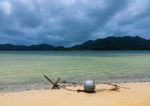 Anchor on Kabira bay inner beach, Yaeyama Islands, Ishigaki-jima, Japan