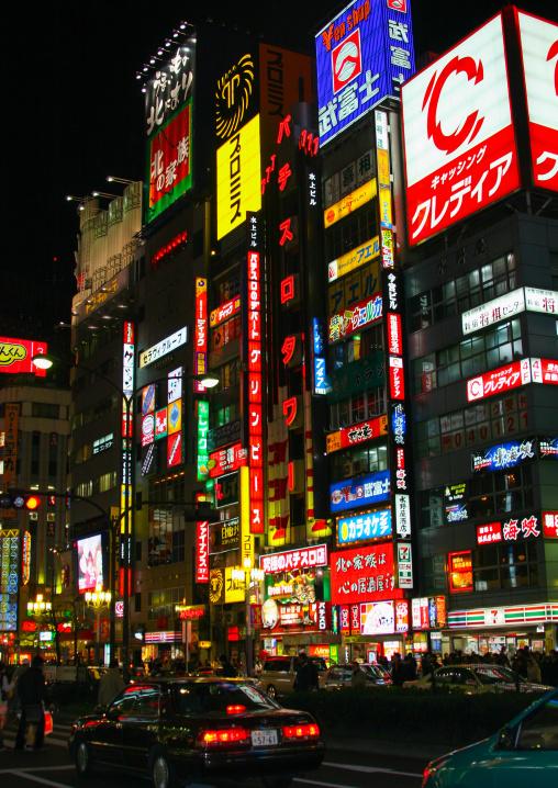 Neon lights in Shinjuku, Kanto region, Tokyo, Japan