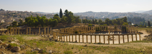 Colonnaded Street  Roman Ruins, Jerash, Jordan