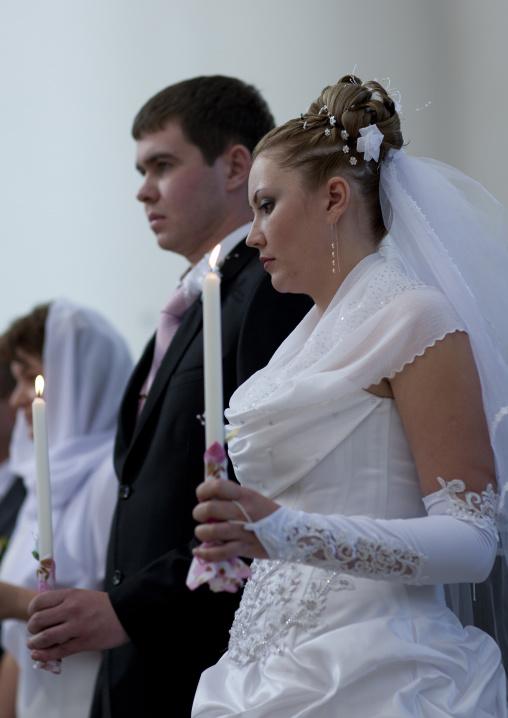 Wedding In A Russian Orthodox Church, Astana, Kazakhstan
