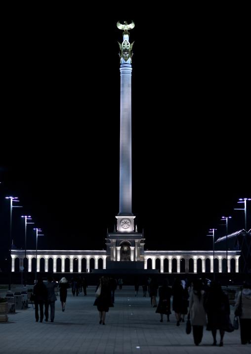 Kazakh Eli Square By Night, Astana, Kazakhstan