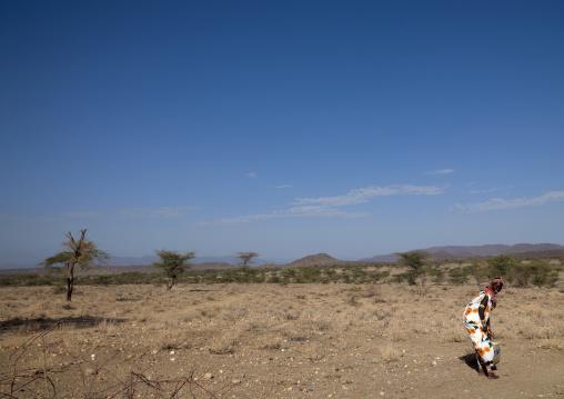 Samburu tribe woman in the bush, Samburu County, Maralal, Kenya