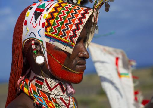 Rendille tribesman, Turkana lake, Loiyangalani, Kenya