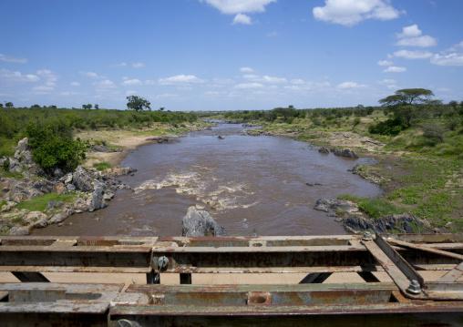 Mara bridge crossing the river mara, Rift valley province, Maasai mara, Kenya