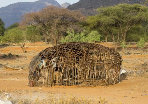 Rendille traditional hut, Marsabit district, Ngurunit, Kenya
