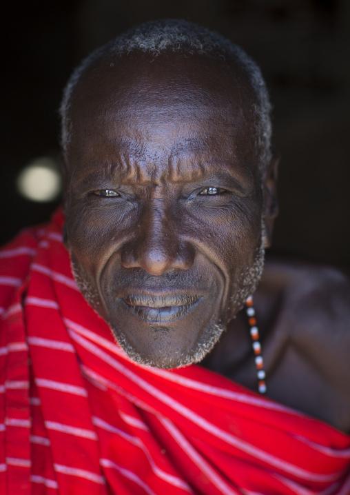 Samburu old tribesman, Samburu county, Samburu national reserve, Kenya