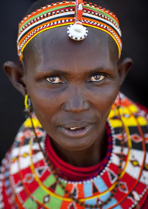 Portrait of an el molo tribeswoman, Turkana lake, Loiyangalani, Kenya