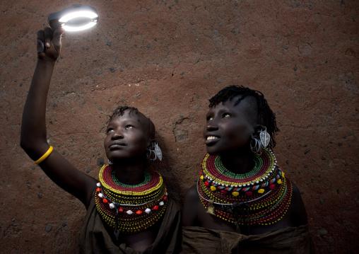 Portrait of Turkana tribe women, Rift Valley Province, Turkana lake, Kenya