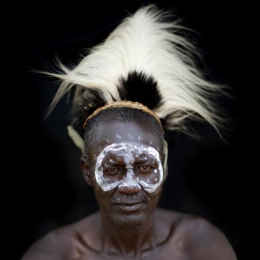 Portrait of a Tharaka tribe man, Laikipia County, Mount Kenya, Kenya