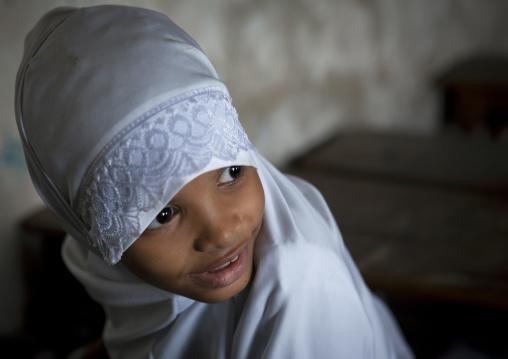 Portrait of a swahili girl, Lamu County, Lamu, Kenya