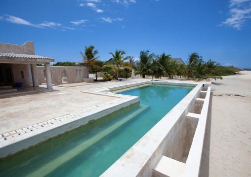 Swimming pool of a luxury house, Lamu County, Manda Island, Kenya