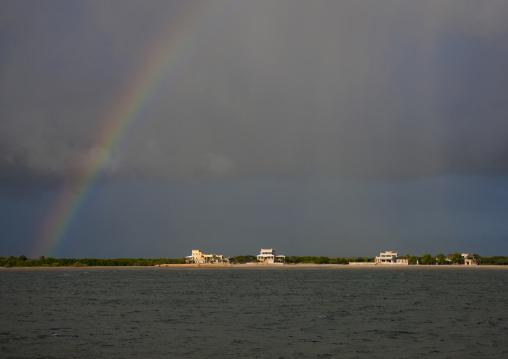 Rainbow over the sea, Lamu County, Lamu, Kenya
