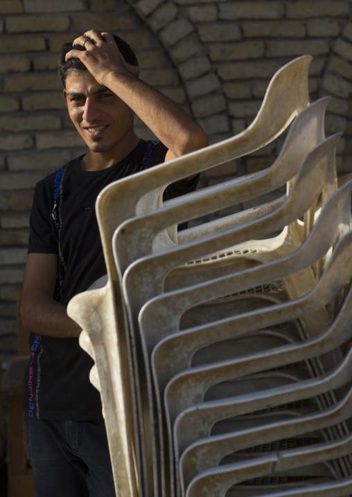 Mzn With Chairs, Erbil, Kurdistan, Iraq