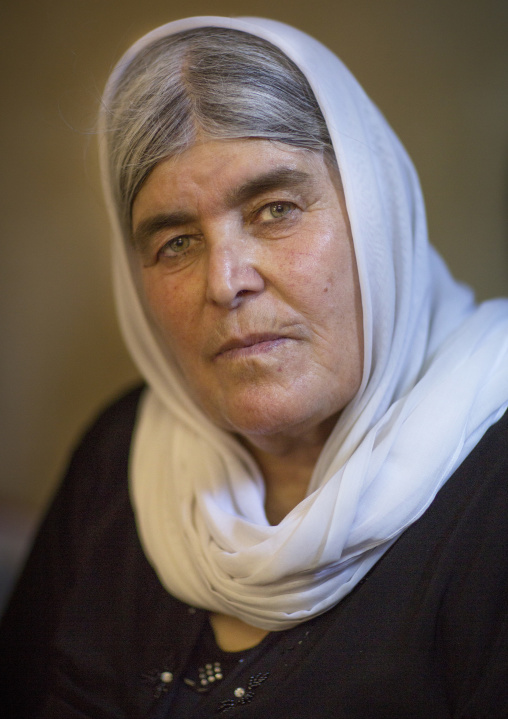 Yazidi Woman In The Temple City Of Lalesh, Kurdistan, Iraq