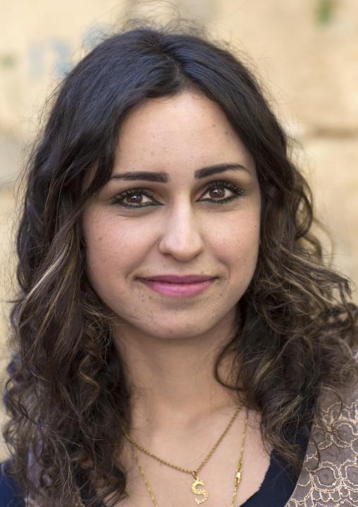 Yazidi Woman Inside The Temple City Of Lalesh, Kurdistan, Iraq
