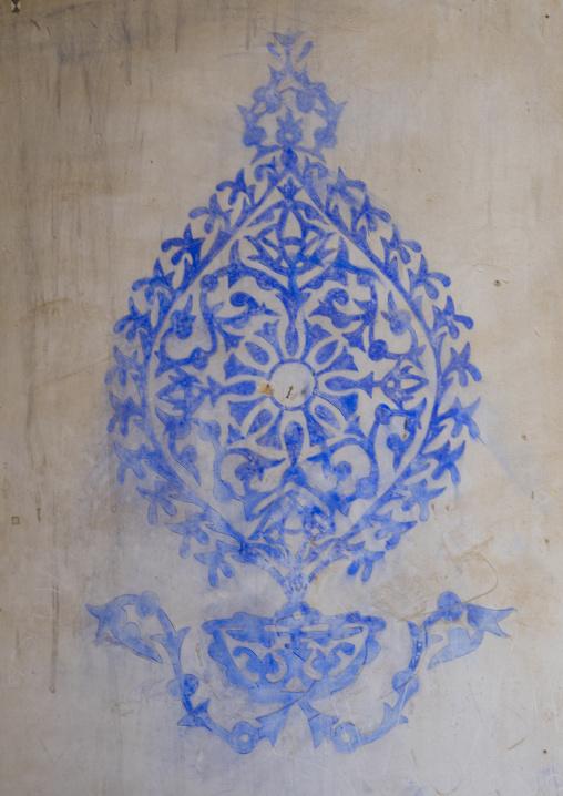 Ottoman Painted Ornamentation In A Divan In The Erbil Citadel, Kurdistan, Iraq