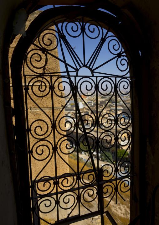 Wrought Iron Window In The Citadel, Erbil, Kurdistan, Iraq
