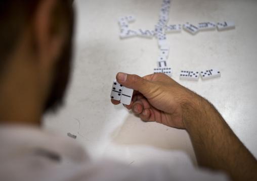 Kurdish Man Playing Dominoes, Koya, Kurdistan, Iraq