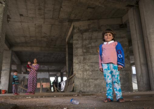 Yezidi Refugees Displaced From Sinjar Living In An Under Construction Building, Duhok, Kurdistan, Iraq