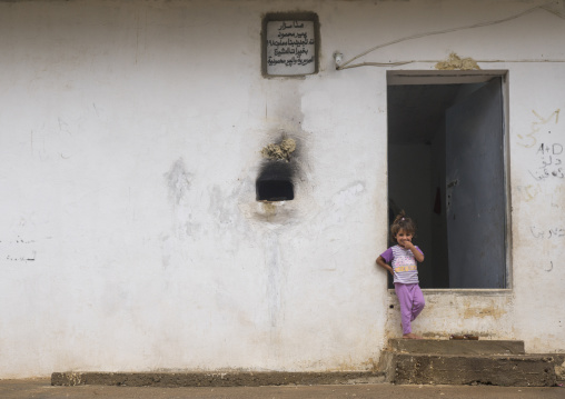 Yezedi Refugee Child From Sinjar Living In Lalesh Temple, Kurdistan, Iraq