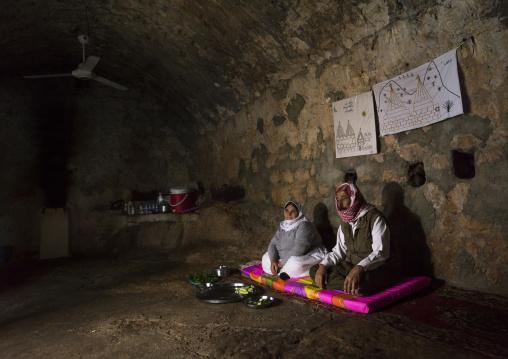 Yezedi Refugees From Sinjar Living Inside Lalesh Temple, Kurdistan, Iraq