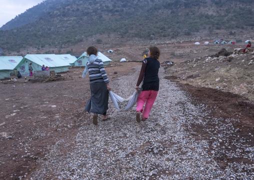 Yezedi Refugees Displaced From Sinjar, Lalesh Temple, Kurdistan, Iraq