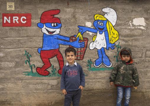Children In Domiz Syrian Refugee Camp, Erbil, Kurdistan, Iraq
