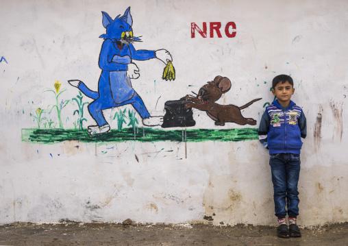 Child In Domiz Syrian Refugee Camp, Erbil, Kurdistan, Iraq