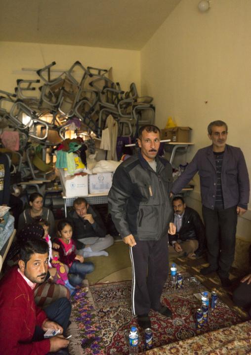 Yezedi Refugees From Sinjar Living In A School, Zohar, Kurdistan, Iraq