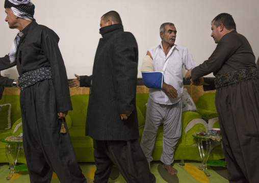 Kurdish Wounded Veteran, Sulaymaniyah, Kurdistan, Iraq