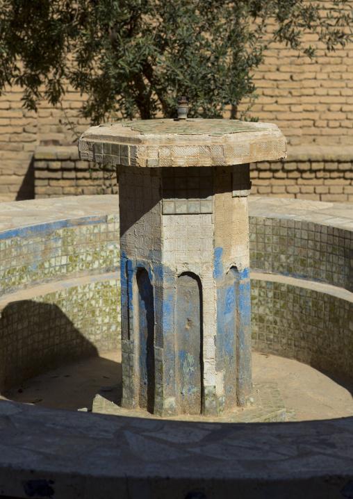 Fountain In The Courtyard Of An Old House Inside The Citadel, Erbil, Kurdistan, Iraq