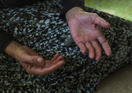Yezidi Refugee Woman Hands Displaced From Sinjar, Duhok, Kurdistan, Iraq