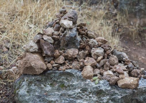 Stones Put By Pilgrims To Bring Luck, Lalesh Temple, Kurdistan, Iraq