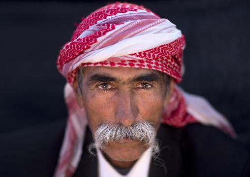 Yezidi Refugee Man Displaced From Sinjar Living In Lalesh Temple, Kurdistan, Iraq