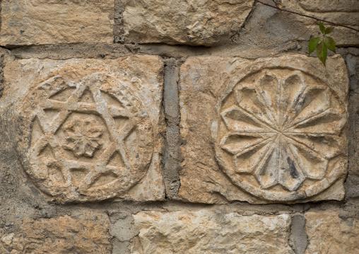 Star Carved On A Wall In Lalesh Temple, Kurdistan, Iraq