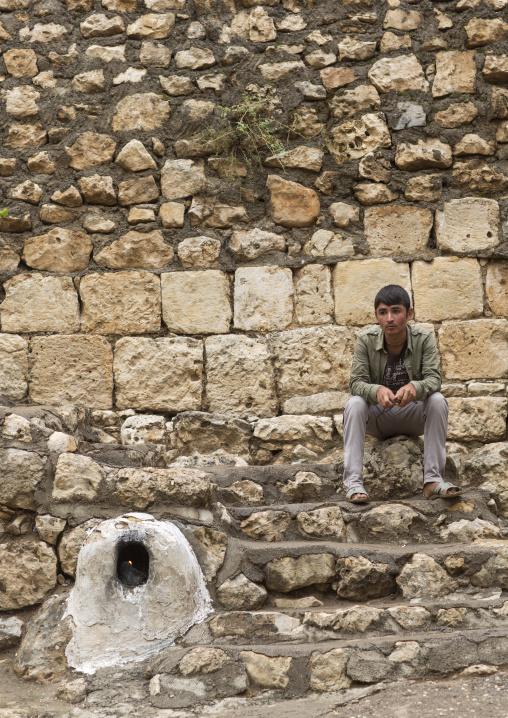 Yezedi Refugee From Sinjar Living In Lalesh Temple, Kurdistan, Iraq
