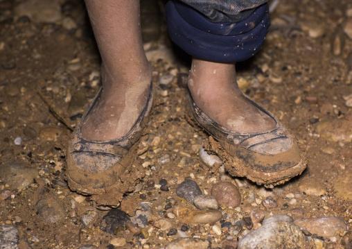 Yezedi Refugee From Sinjar Living In The Mud, Duhok, Kurdistan, Iraq