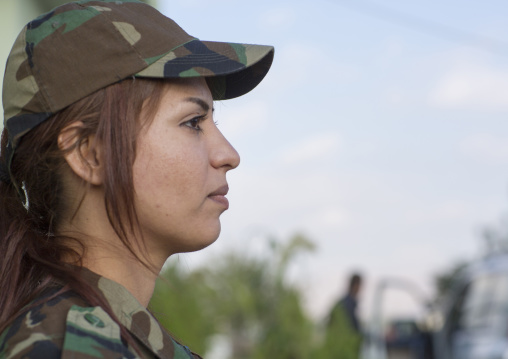 Peshmerga Woman Of The 2Nd Battalion, Sulaymaniyah, Kurdistan, Iraq