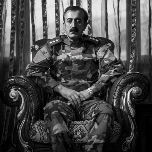 Peshmerga ColonelYousuf Majid, Sulaymaniyah, Kurdistan, Iraq