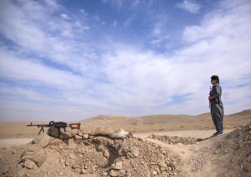 Woman Peshmerga Of The 2Nd Battalion On The Frontline, Taza, Kurdistan, Iraq