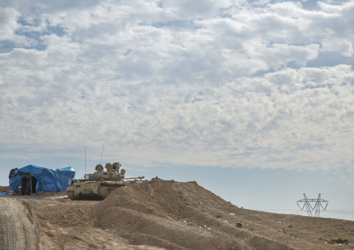 Kurdish Tank On The Frontline, Kirkuk, Kurdistan, Iraq