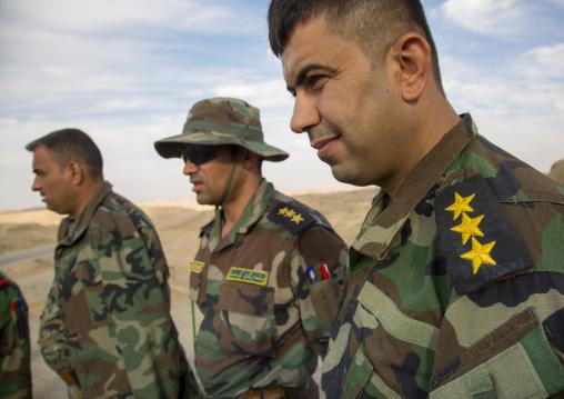 Iraqi Soldiers On The Frontline, Kirkuk, Kurdistan, Iraq
