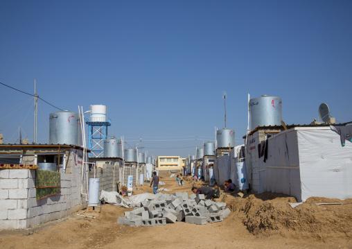 Constructions Inside Qushtapa Refugee Camp, Erbil, Kurdistan, Iraq